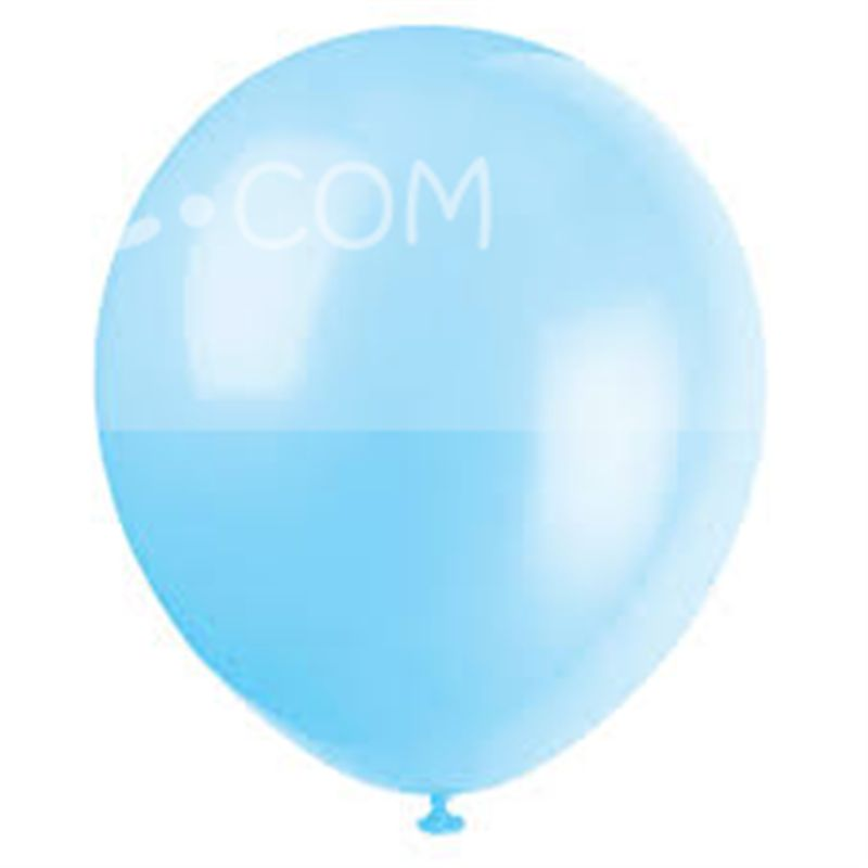 Light Blue Metallic Balloons (Pack of 20)