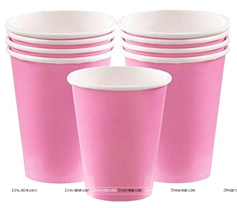 Pink Plain Party Cups