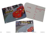 CARS DIE-CUT INVITATION & ENVELOPES