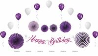 Purple Birthday Decoration Kit (Pack of 27 pcs )