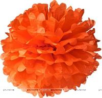 10inch Orange Tissue Pom Pom