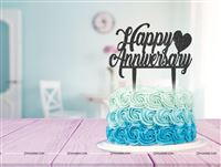 Happy Anniversary heart Cake Topper