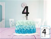 Four Cake Topper (Black)