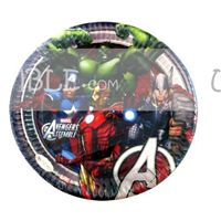 Avengers Birthday Party Plates