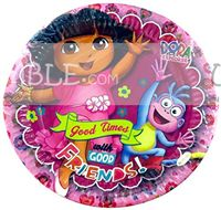 Dora Birthday Party Plate