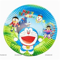 DOREMON BIRTHDAY PARTY PLATES
