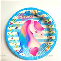 Blue Unicorn Plates