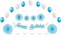 Blue Birthday Decoration Kit (Pack of 27 pcs )