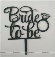 Bride To Be Topper (Black)