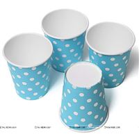 Blue & White polka paper cups (Pack of 20)