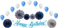 Dark Blue Birthday Decoration Kit (Pack of 27 pcs )