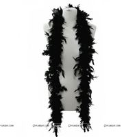 Feather Boa Garland Black