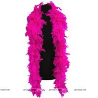 Feather Boa Garland Dark Pink