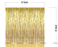 Gold Foil Curtains