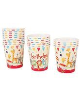 Happy Birthday Animal Cups (Pack of 20)