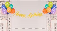 Yellow Happy Birthday Banner