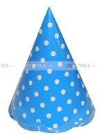 Blue Polka Dot Hats