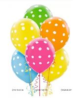 Multi Color Polka balloons(pack of 20 )
