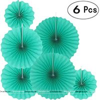 Teal Green Paper Fan decorations
