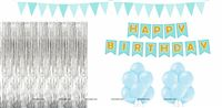 Foil Fringe Birthday Party Kit