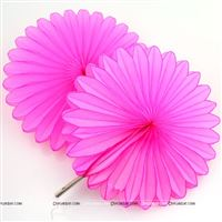Pink 15cm - set of 5 Paper Fan Decoration