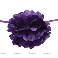 Purple Pom Pom Garland
