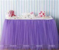Purple tutu table skirt (4 ft x 2.5 ft)