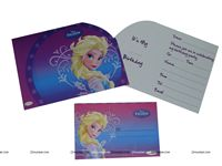 Frozen 2 Die Cut Invitation and envelope