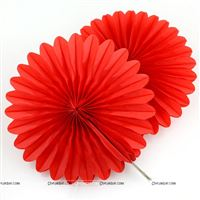 Red 15cm - set of 5 Paper Fan Decoration