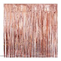 Rose Gold Foil Curtains