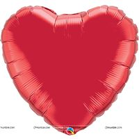 Ruby Red Heart Foil Balloon