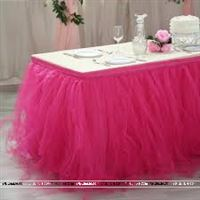 Pink tutu table skirt (4 ft x 2.5 ft)