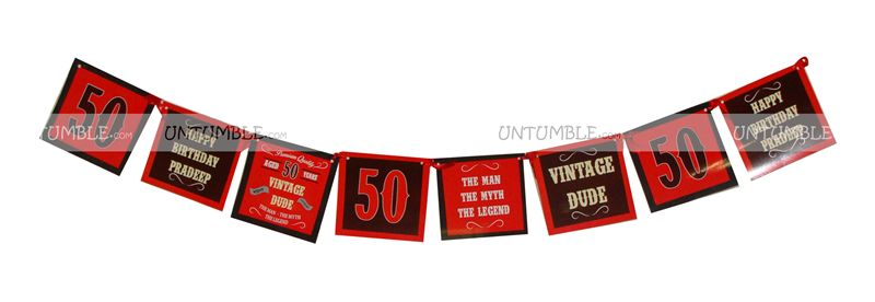 50th Birthday theme Happy Birthday Banners