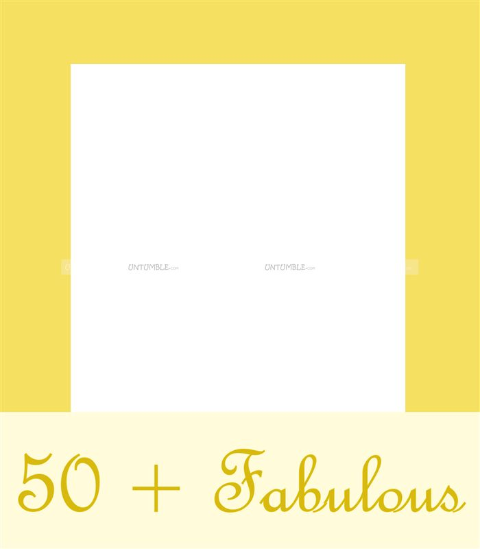 50 and Fabulous photo booth