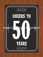 Cheers to 50th Birthday poster