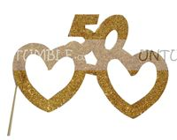 No 50 Glitter Glasses Photo Prop