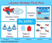 Aeroplane Theme Mini Party Pack