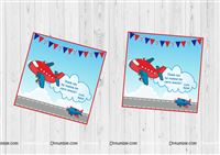 Aeroplane theme Thank you cards