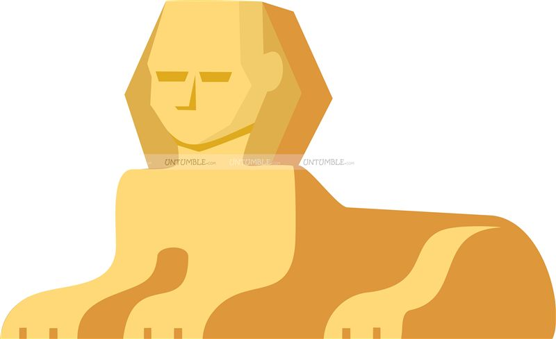 Egyptian Sphinx Cutout
