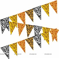 Animal skin printed bunting (10 ft)