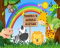 Baby Jungle Animals Backdrop