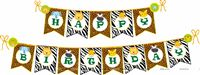 Baby Jungle Birthday theme Happy Birthday Banners