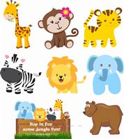 Jungle Animals Poster Pack (Pack of 8)