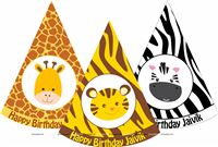 Jungle printed party hats (Set of 6)