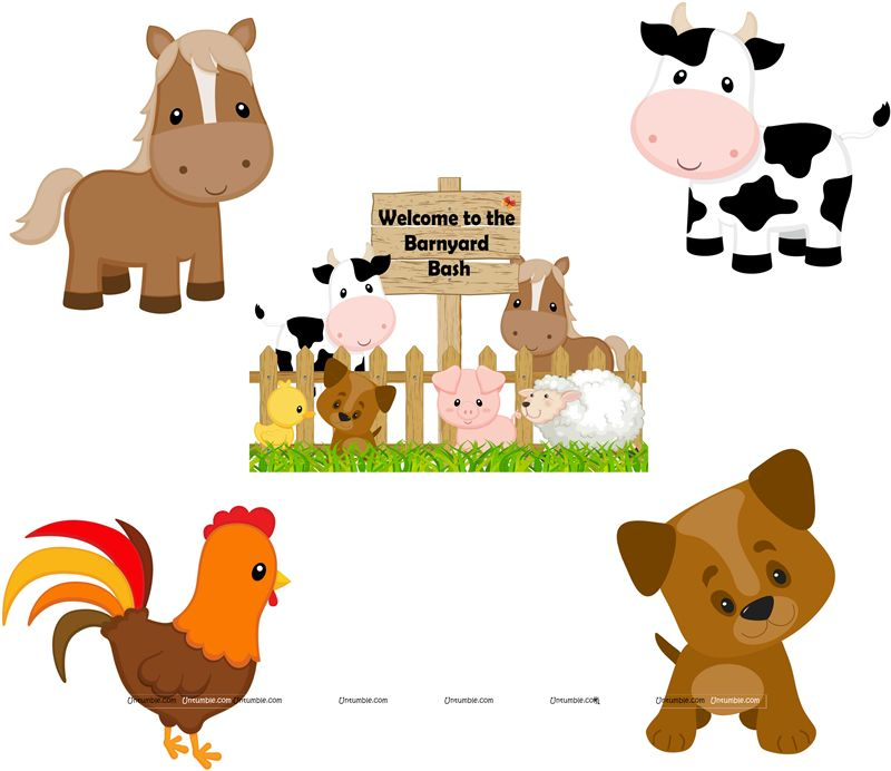 Farm Birthday theme Posters pack of 5