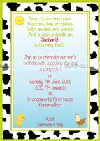 Farm Birthday theme Rectangular Invitations