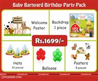 Baby Barnyard Theme Mini Party Pack