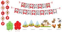 Barnyard Farm Super saver birthday decoration kit (Pack of 58 pieces)