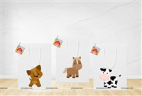Stickered gift bags - Top Barnyard Theme Birthday - Party Decoration Supplies