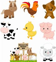 Farm animal poster pack (Pack of 8 )